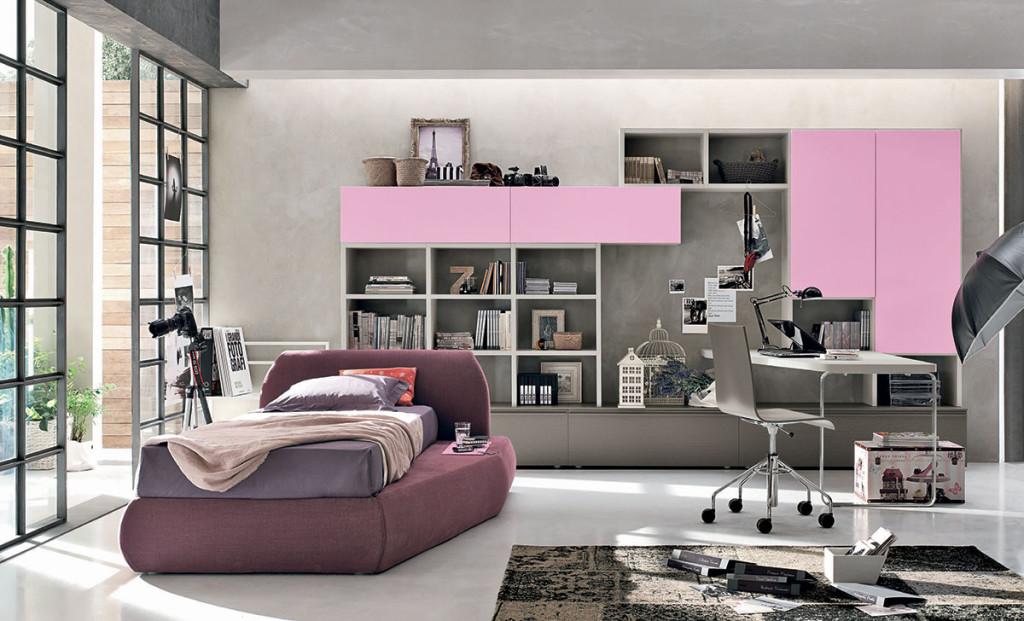 T18 camerette tomasella ginocchi arredamenti - Camere da letto per ragazzi moderne ...