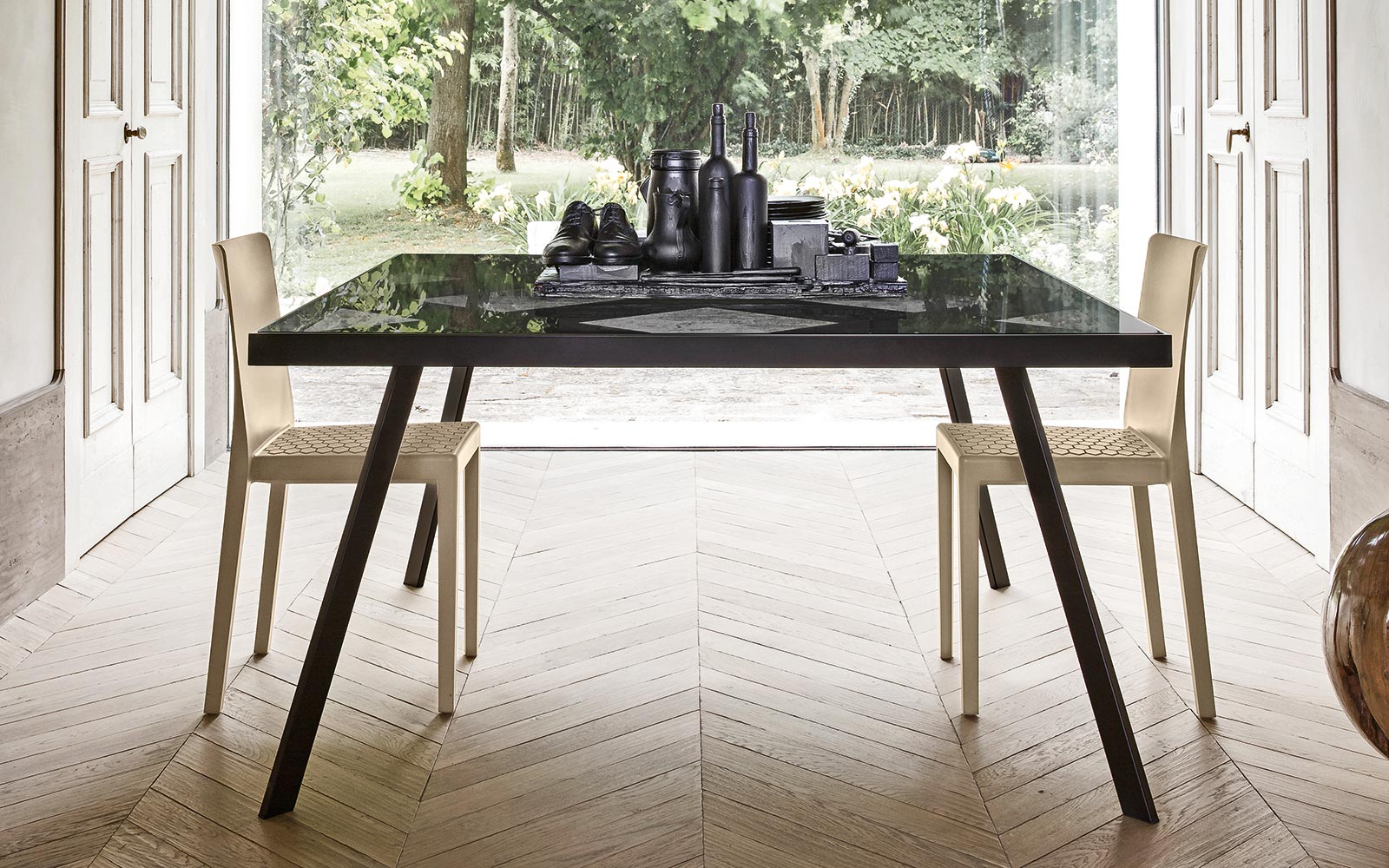 Frame tavoli calligaris ginocchi arredamenti - Tavolo quadrato allungabile calligaris ...