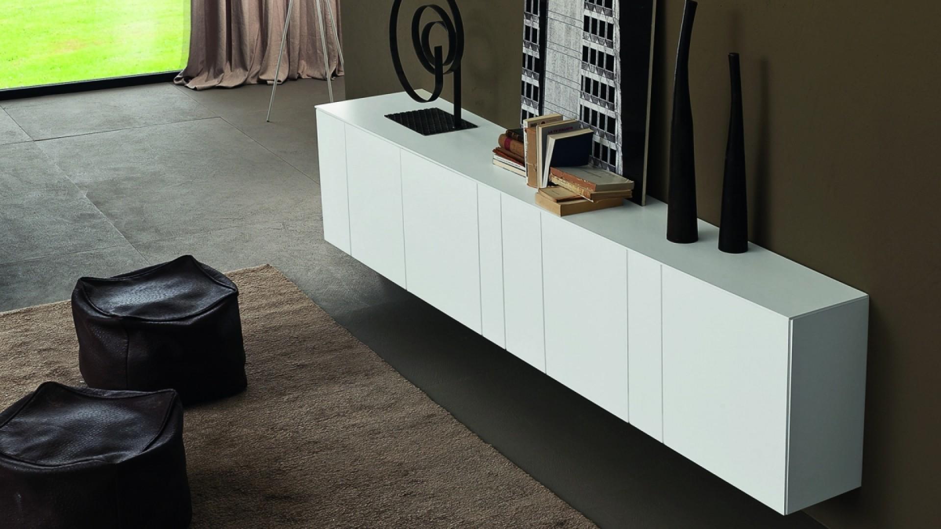 Credenza Moderna Alta Bianca : Madia moderna bianca ikea: buffet cooper credenza
