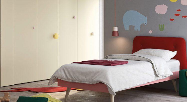 Cameretta con letto singolo cleo camerette nidi for Nidi camerette